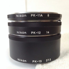 Vand inele macro NIKON PK-13, PK-12 si PK-11A noi nefolosite - Inel macro obiectiv foto