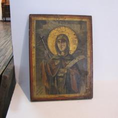ICOANA SFANTA MARIA SCOALA BIZANTINA CCA. 1900 - Icoana pe lemn