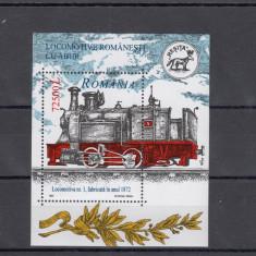 ROMANIA 2002, LP 1593, LOCOMOTIVE ROMANESTI CU ABUR COLITA DANTELATA MNH - Timbre Romania, Nestampilat
