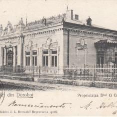 DOR0HOI, PROPRIETATEA DLUI G. G. BURGHELE, CIRCULATA JUL *904 - Carte Postala Moldova pana la 1904, Printata
