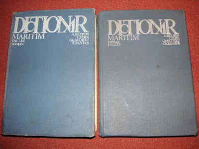 Dictionar maritim roman - englez si englez - roman foto