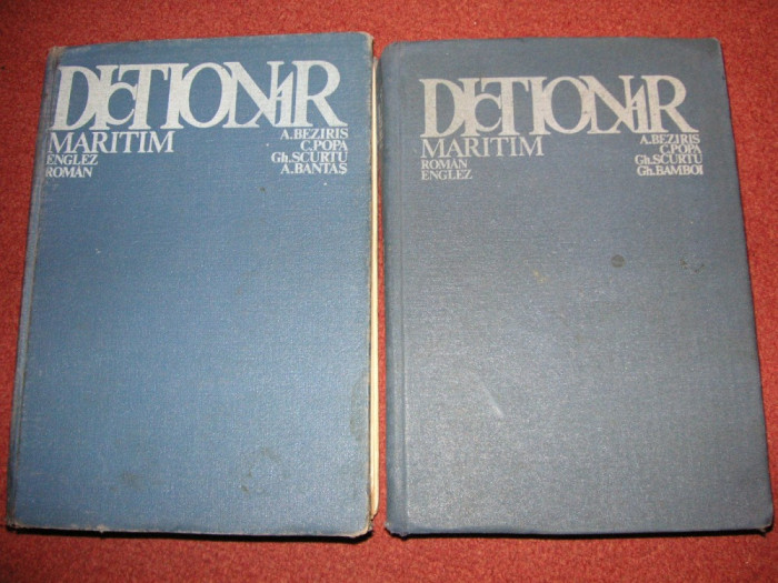 Dictionar maritim roman - englez si englez - roman