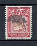 COLONII BRITANICE NEWFOUNDLAND 1908 - HARTA TERITORIU, Stampilat