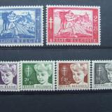 1954 belgia, serie nestampilata mnh