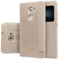 HUSA NILLKIN SPARKLE Huawei MATE S BONUS FOLIE ECRAN - Husa Telefon Nillkin, Auriu, Plastic