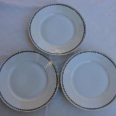 Trei farfurii pentru prajitura din portelan german ROSENTHAL Selb Bavaria