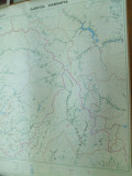 Buzau  harta hidrografica 1980 color 85 x 65 cm dimensiuni color