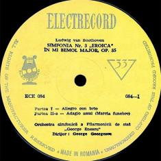 Beethoven_Orchestra George Enescu_G. Georgescu - Simfonia Nr. 3 Eroica (Vinyl) - Muzica Clasica electrecord, VINIL