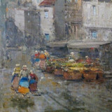 Tablou original Johann Wagner ( 1866-1940) - Pictor strain, Peisaje, Ulei, Impresionism