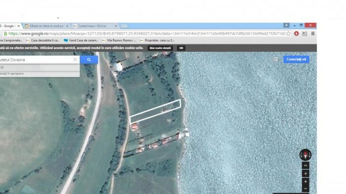 Teren intravilan la Moacsa-Covasna, pe malul lacului