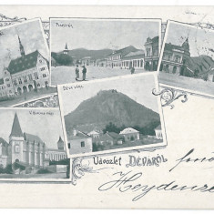 3348 - L i t h o, Hunedoara, DEVA - old postcard - used - 1898 - Carte Postala Transilvania pana la 1904, Circulata, Printata