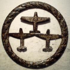 I.687 GERMANIA AVIATIE AL III-LEA REICH INSIGNA DLV 3 AEROPLANE (1933) 31mm, Europa