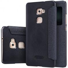 HUSA NILLKIN SPARKLE Huawei MATE S BONUS FOLIE ECRAN - Husa Telefon Nillkin, Negru, Piele Ecologica