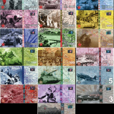 RUSIA - LOT COMPLET 70 DE ANI DE LA VICTORIE (19 BUC) - 2015 - UNC/ CU HOLOGRAMA