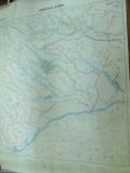 Ilfov  harta hidrografica 1980 color 85 x 65 cm dimensiuni color