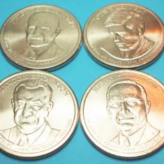 SUA 2015 - SET 4 MONEDE 1 DOLLAR PRESEDINTI AMERICANI - UNC, America de Nord, An: 2014, Cupru (arama)
