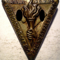 I.689 GERMANIA AL III-LEA REICH INSIGNA NAZISTA MUNSTER WESTFALEN 1934, Europa