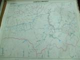 Brasov  harta hidrografica 1980 color 63 x 69 cm dimensiuni color