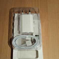 Incarcator compatibil iphone 5s + cablu date iphone 5s - Incarcator telefon iPhone, iPhone 5/5S, De priza