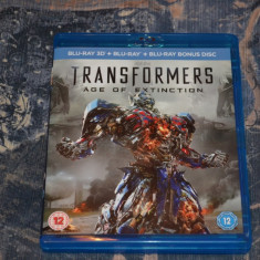 Film - Transformers : Age Of Extinction 3D + 2D + Bonus, Release UK Original - Film SF warner bros. pictures, BLU RAY 3D, Engleza