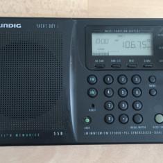 Radio portabil digital Grundig Yacht Boy 400 cu 4 benzi, ceas si dubla conversie - Aparat radio Grundig, Analog