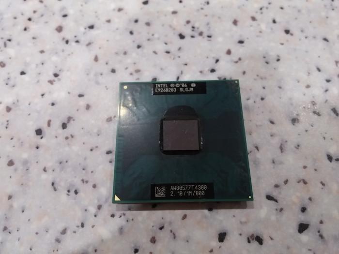 Procesor laptop intel T4300 dual core 2,10/1M/800 socket P