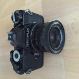 Aparat foto cu film Revueflex cu obiectiv Berolina Westromat 1:2.8/35, SLR, Mediu