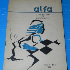 Revista ALFA sf LITERATURA DE ANTICIPATIE NR 1 1990 robert sheckley (r5017 - Carte SF