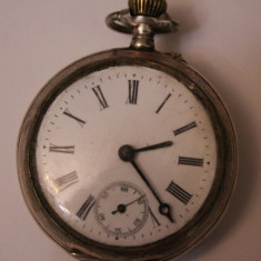 CEAS VECHI DE BUZUNAR -SWISS MADE-CYLINDRE REMONTOIRE-10RUBIS - Ceas de buzunar vechi