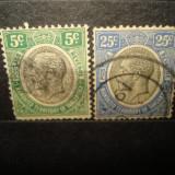 TIMBRE TANGANYIKA 2 VALORI STAMPILATA ANUL 1931