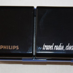 RADIO PHILIPS TRAVEL RADIO CLOCK MODEL D1868 .MADE IN HONG KONG - Aparat radio
