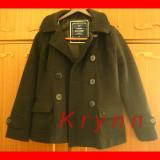 Palton negru modern, marime S/M, cu gluga