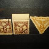 TIMBRE FIUME 3 VALORI ANUL 1919, Stampilat
