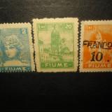TIMBRE FIUME 3 VALORI NESTAMPILATE ANUL 1919