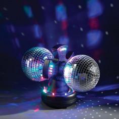 Lampa Disco 3D, 32 LED-uri multicolore cu oglinzi - accesoriu mobila
