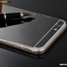 Husa iPhone 6 Plus 6S Plus TPU Ultra Thin Mirror Black, Negru, Gel TPU, Apple