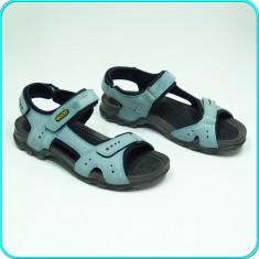 DE FIRMA → Sandale dama, DIN PIELE, comode, aerisite, ECCO → femei | nr. 41, Culoare: Bleu, Piele naturala