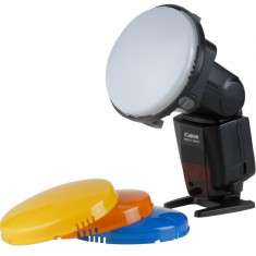 Filtre colorate pentru blitz pe patina cu adaptor universal - Bounce Diffuser Blitz