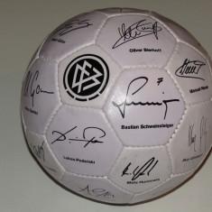 Minge fotbal de colectie-Autografe jucatori din echipa nationala a Germaniei