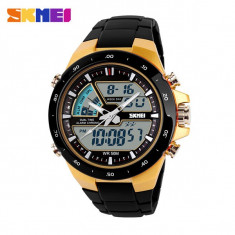 Ceas SUBACVATIC SKMEI S-Shock 5 Fashion SPORT JPN Functii Multiple Dual Time, Quartz, Carbon