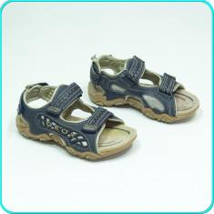 DE FIRMA _ Sandale comode aerisite, PIELE, leduri calitate GEOX _ baieti | nr 29 - Sandale copii Geox, Culoare: Bleumarin, Piele naturala