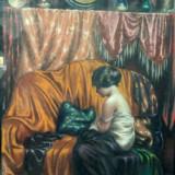 Misu Teisanu (1884-1944), Femeie pe canapea - Pictor roman