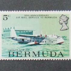 BERMUDA - AVIATIE, 3 VALORI NEOBLITERATE - E4365 - Timbre straine, Nestampilat