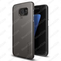 Husa policarbonat Spigen 556CS20030 Gunmetal Samsung Galaxy S7 Edge G935F - Husa Telefon SPIGEN, Negru
