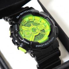 CASIO G-SHOCK GA 110, Black Green Edition !!! - Ceas barbatesc Casio, Mecanic-Manual