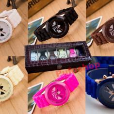 Pachet SPECIAL 6 ceasuri sport de dama + cutie cu compartimente CADOU - Ceas dama, Quartz, Piele ecologica, Analog