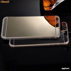Husa iPhone 6 Plus 6S Plus TPU Ultra Thin Mirror Gold, Auriu, Gel TPU, Apple