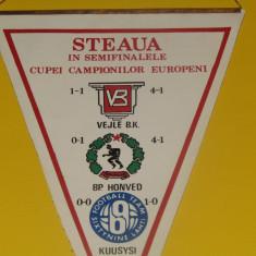 Fanion fotbal - STEAUA BUCURESTI in semifinalele CCE