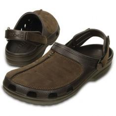 Saboti Crocs Yukon Mesa Clog Espresso (CRC203261-22Z) - Sandale barbati Crocs, Marime: 40.5, 41.5, 42.5, 43.5, 44.5, 45.5, Culoare: Maro
