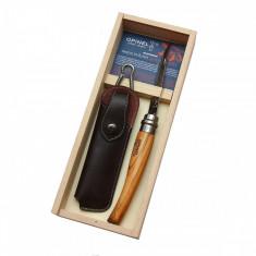 Set Cutit & Teaca Opinel Nr 10 Slim Inox Maslin 001090 - Briceag/Cutit vanatoare